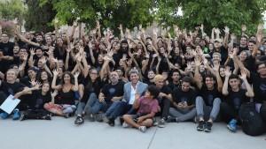 Uñac presenció el ensayo del Espectáculo Final de la Fiesta Nacional del Sol 2020