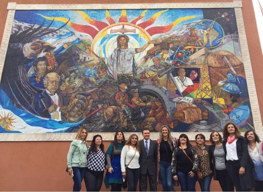Inauguraron el mural minero en honor a los recursos sanjuaninos