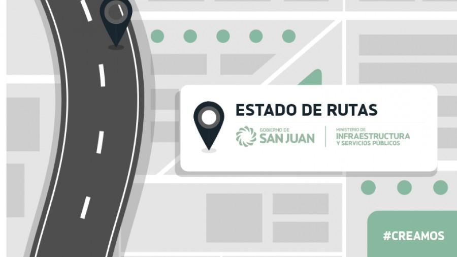 Estado de rutas provinciales 19/06 - 8hs.