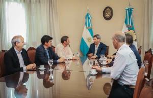 Las nuevas autoridades del Instituto Nacional de Vitivinicultura visitaron al gobernador Uñac