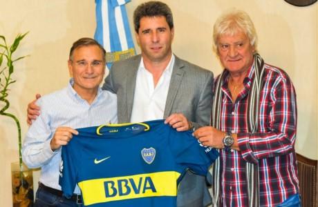 Dirigentes de Boca Juniors saludaron al gobernador