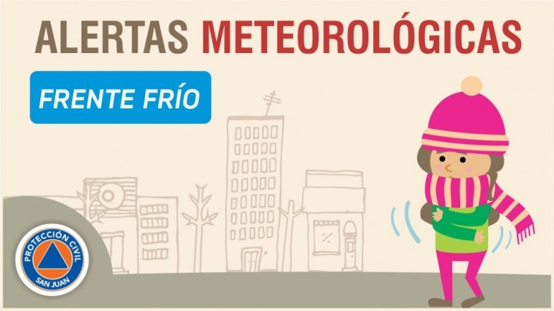 Alerta meteorológica Nº 38/19 - Frente frío