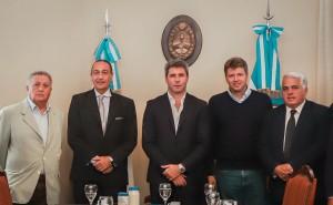 Integrantes de INTI saludaron al gobernador Uñac