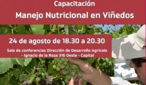 """Capacitación sobre """"Manejo Nutricional en Viñedos"""""""