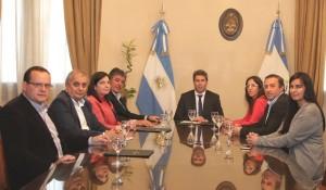 Empresarios hoteleros de Chile se reunieron el gobernador Uñac