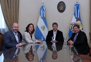 Sergio Uñac recibió a miembros de la Fundación Telefónica