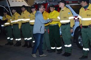 San Juan coopera en el combate de incendios en San Luis